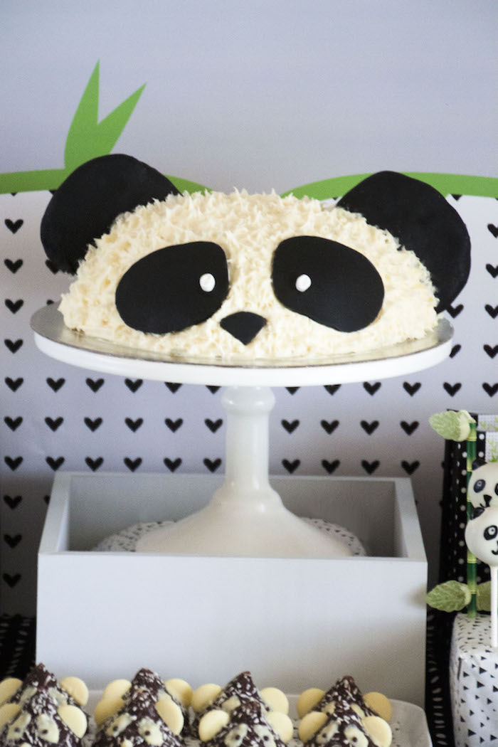 "Panda Bear cake from a Panda Bear ""Panda-monium"" Birthday Party via Kara's Party Ideas 