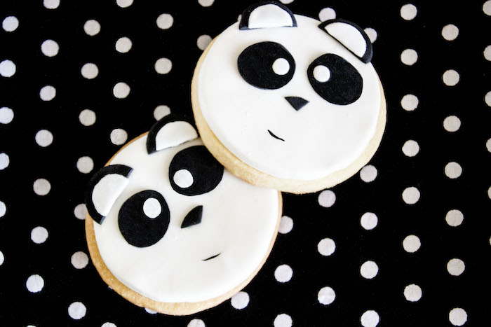 "Panda Bear Cookies from a Panda Bear ""Panda-monium"" Birthday Party via Kara's Party Ideas 