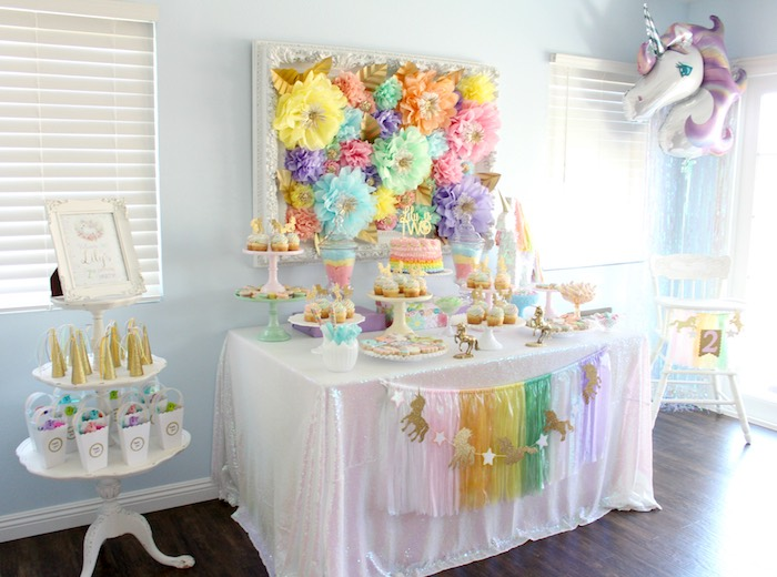 Pastel Iridescent Unicorn 2nd Bday Party On KarasPartyIdeas 30