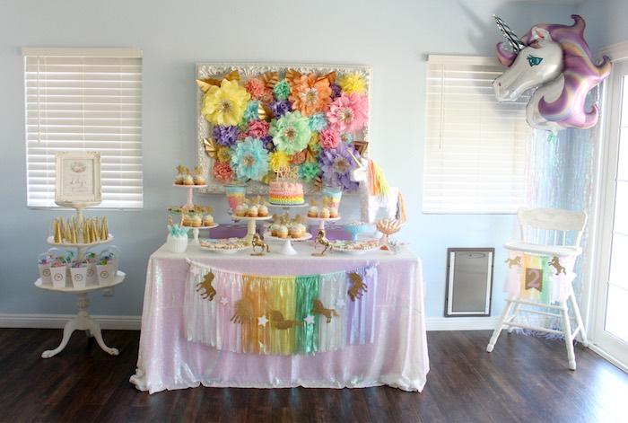 kara u0026 39 s party ideas pastel iridescent unicorn 2nd bday