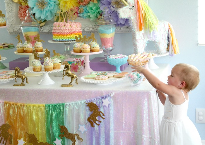 Pastel Iridescent Unicorn 2nd Bday Party On KarasPartyIdeas 21
