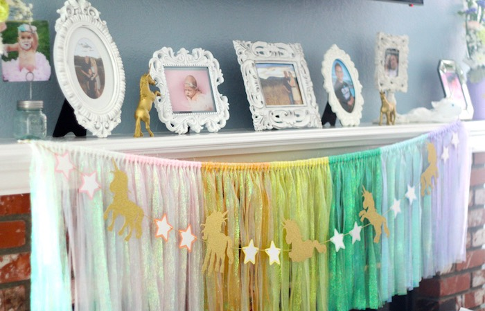 Bunting from a Pastel Iridescent Unicorn 2nd Bday Party on KarasPartyIdeas.com (15)
