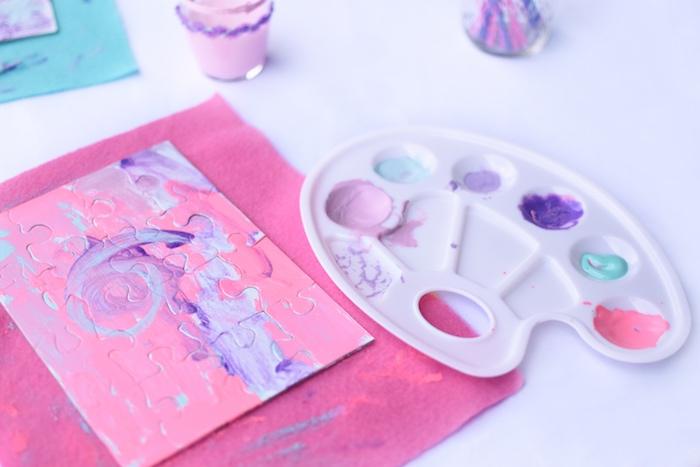 Art project from a Pastel Painting + Art Themed Birthday Party via Kara's Party Ideas KarasPartyIdeas.com (7)