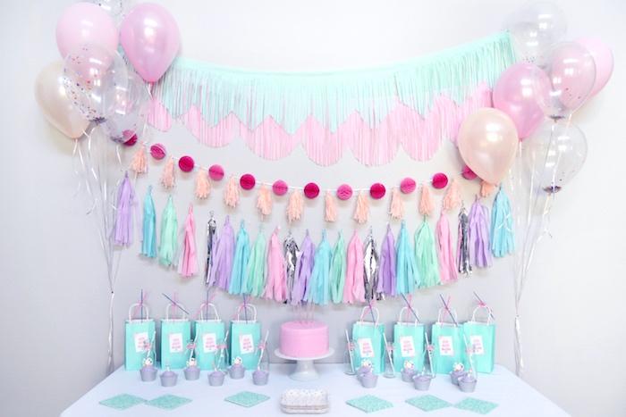 Head party table from a Pastel Painting + Art Themed Birthday Party via Kara's Party Ideas KarasPartyIdeas.com (23)