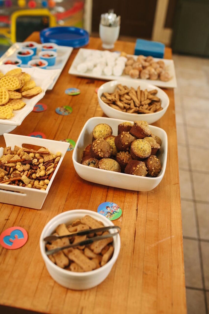 Food + snacks from a Paw Patrol Themed Birthday Party via Kara's Party Ideas KarasPartyIdeas.com (27)