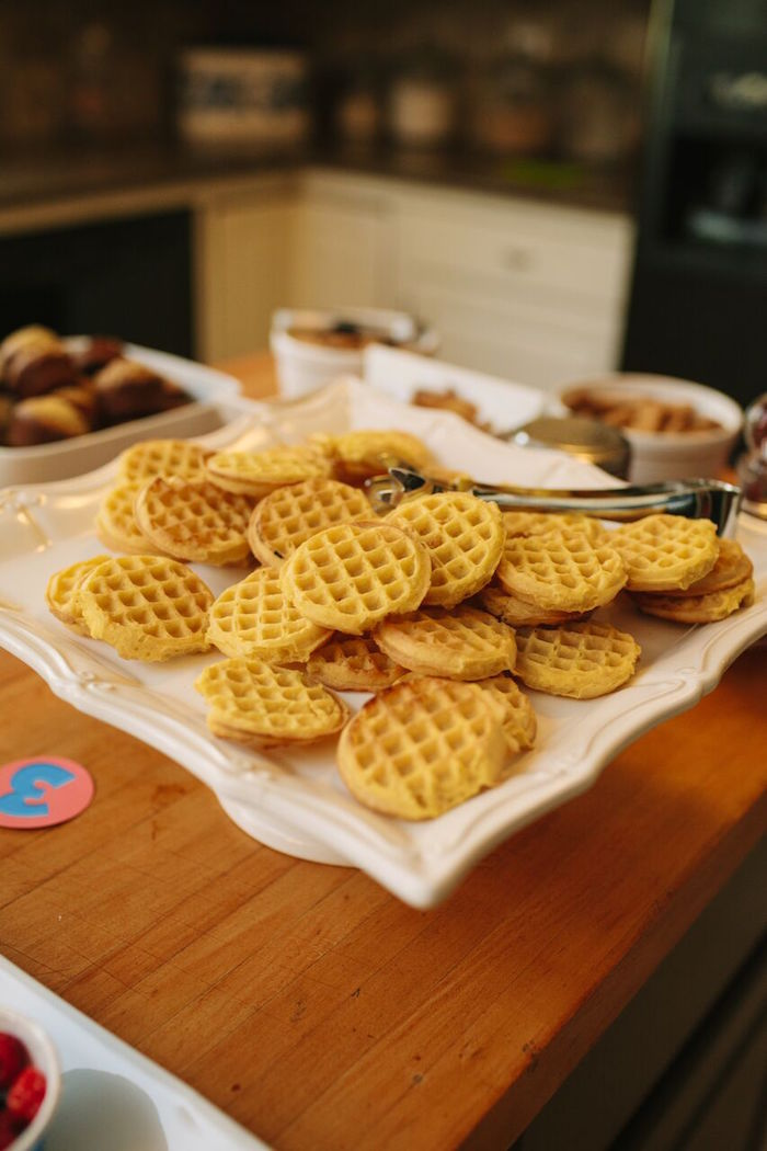 Mini waffles from a Paw Patrol Themed Birthday Party via Kara's Party Ideas KarasPartyIdeas.com (23)