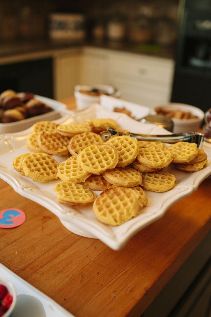 Mini waffles from a Paw Patrol Themed Birthday Party via Kara's Party Ideas KarasPartyIdeas.com (23)