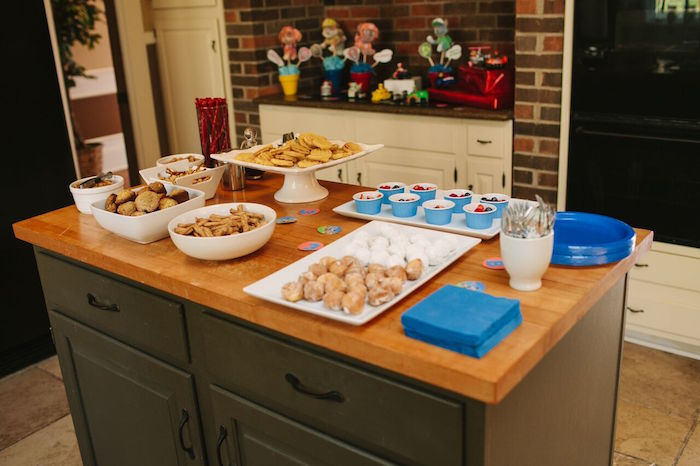 Food & treat table from a Paw Patrol Themed Birthday Party via Kara's Party Ideas KarasPartyIdeas.com (22)