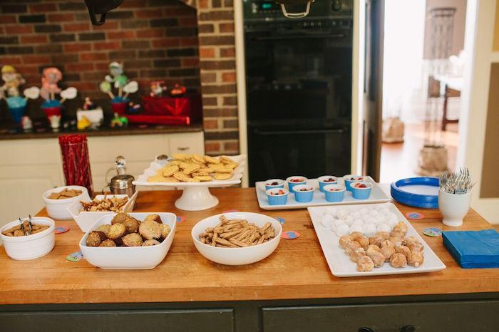 Food & treat table from a Paw Patrol Themed Birthday Party via Kara's Party Ideas KarasPartyIdeas.com (21)