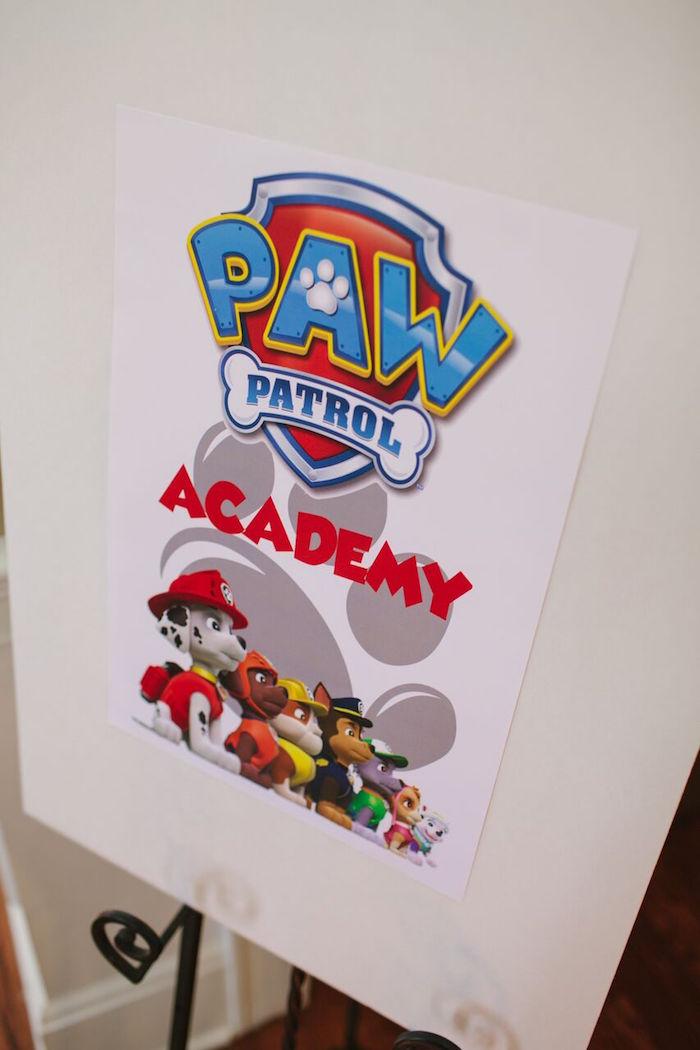 Paw Patrol party signage from a Paw Patrol Themed Birthday Party via Kara's Party Ideas KarasPartyIdeas.com (4)