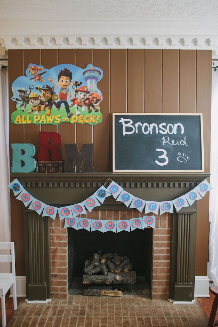 Party backdrop decor from a Paw Patrol Themed Birthday Party via Kara's Party Ideas KarasPartyIdeas.com (36)