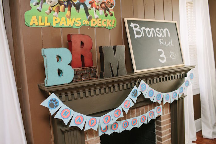 Party banner + decor from a Paw Patrol Themed Birthday Party via Kara's Party Ideas KarasPartyIdeas.com (34)