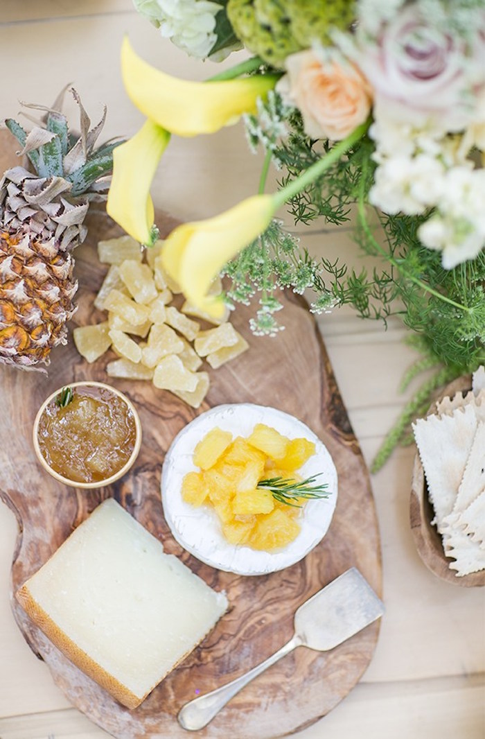 Pineapple cheese plate from a Pineapple Garden Party via Kara's Party Ideas | KarasPartyIdeas.com (14)
