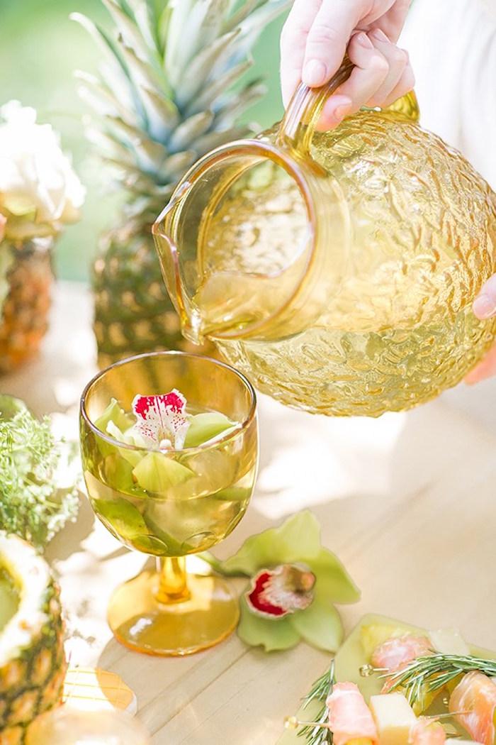 Dink glass from a Pineapple Garden Party via Kara's Party Ideas | KarasPartyIdeas.com (9)