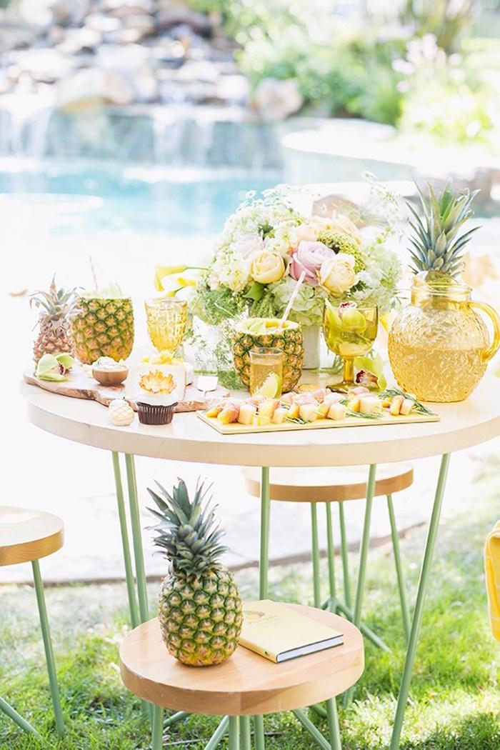 Pineapple Garden Party via Kara's Party Ideas | KarasPartyIdeas.com (5)