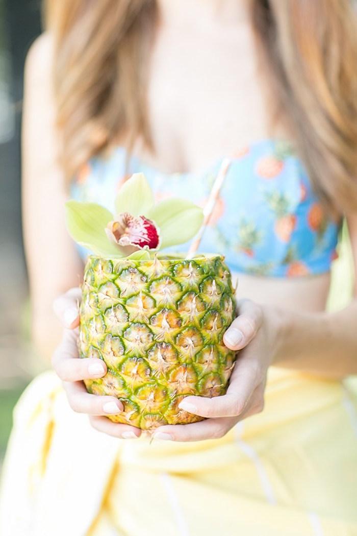 Pineapple drink from a Pineapple Garden Party via Kara's Party Ideas | KarasPartyIdeas.com (22)