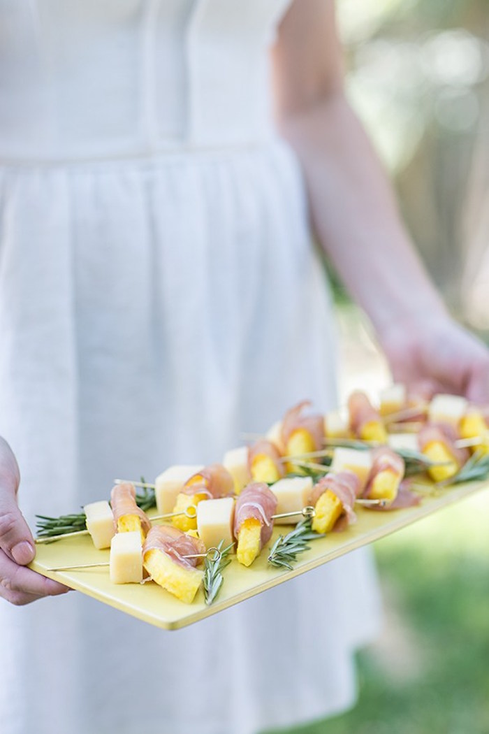 Pineapple skewers from a Pineapple Garden Party via Kara's Party Ideas | KarasPartyIdeas.com (18)