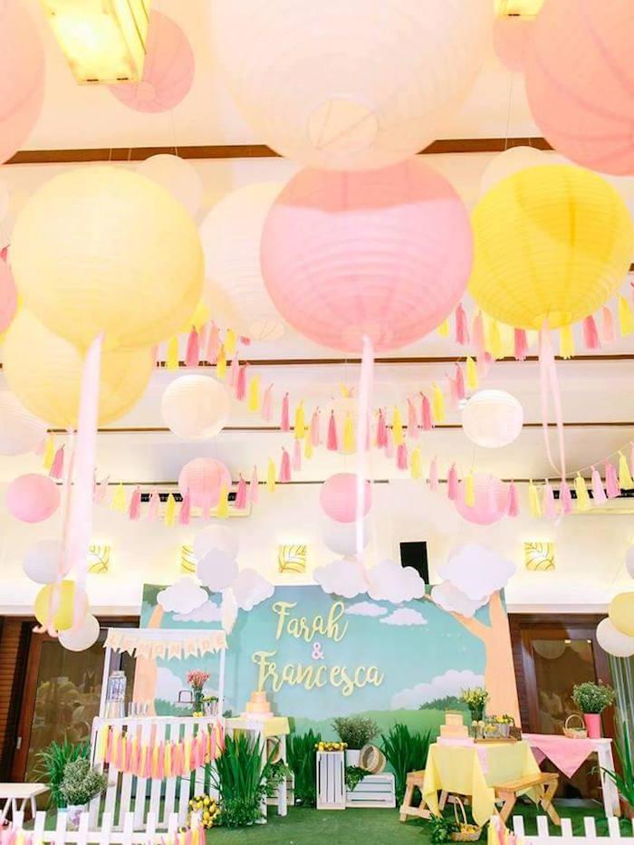 Party spread from a Pink Lemonade Birthday Party via Kara's Party Ideas   KarasPartyIdeas.com (38)