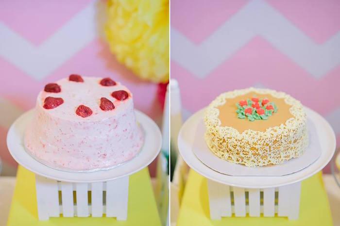 Cakes from a Pink Lemonade Birthday Party via Kara's Party Ideas   KarasPartyIdeas.com (15)