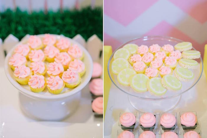 Cupcakes and cookies from a Pink Lemonade Birthday Party via Kara's Party Ideas | KarasPartyIdeas.com (11)
