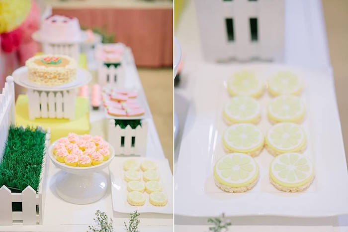 Sweet tablescape + lime cookies from a Pink Lemonade Birthday Party via Kara's Party Ideas | KarasPartyIdeas.com (7)