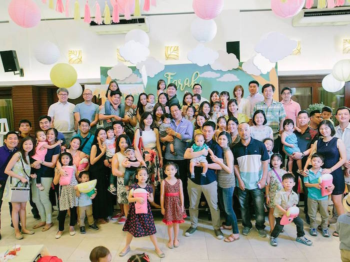 Party goers from a Pink Lemonade Birthday Party via Kara's Party Ideas | KarasPartyIdeas.com (4)