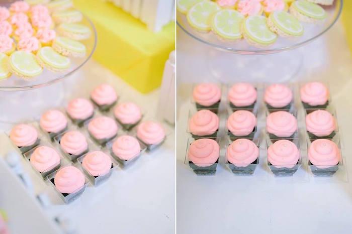 Cupcakes from a Pink Lemonade Birthday Party via Kara's Party Ideas   KarasPartyIdeas.com (3)