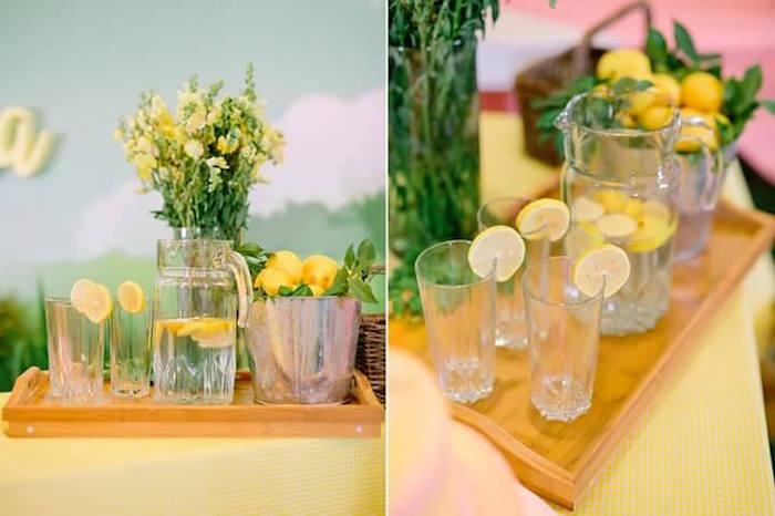 Lemonade tray from a Pink Lemonade Birthday Party via Kara's Party Ideas   KarasPartyIdeas.com (35)