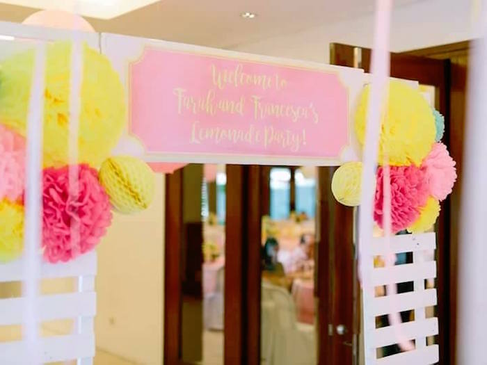 Party banner from a Pink Lemonade Birthday Party via Kara's Party Ideas | KarasPartyIdeas.com (34)