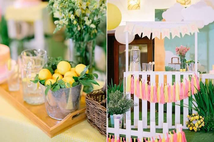 Lemonade stand from a Pink Lemonade Birthday Party via Kara's Party Ideas   KarasPartyIdeas.com (30)