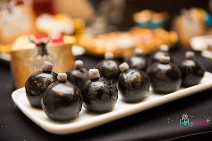 Pirate Bomb Cake Pops From A Birthday Party Via Karas Ideas KarasPartyIdeas