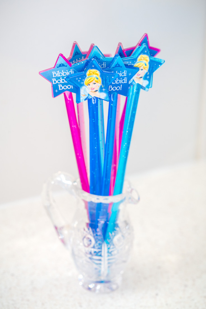 Cinderella wands from a Princess Cinderella Birthday Party on Kara's Party Ideas | KarasPartyIdeas.com (16)