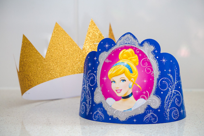 Cinderella Crowns from a Princess Cinderella Birthday Party on Kara's Party Ideas | KarasPartyIdeas.com (15)