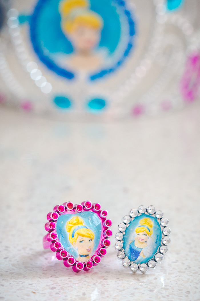 Cinderella bracelet and ring favors from a Princess Cinderella Birthday Party on Kara's Party Ideas | KarasPartyIdeas.com (14)