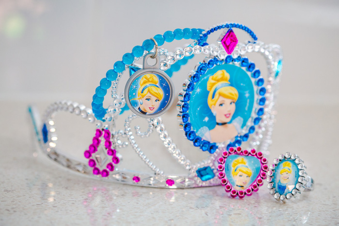 Electroplated Cinderella Crown from a Princess Cinderella Birthday Party on Kara's Party Ideas | KarasPartyIdeas.com (13)