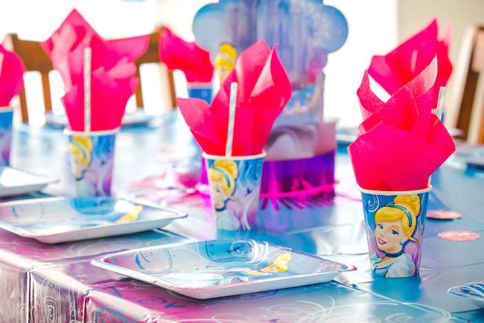 Cinderella tableware from a Princess Cinderella Birthday Party on Kara's Party Ideas | KarasPartyIdeas.com (11)