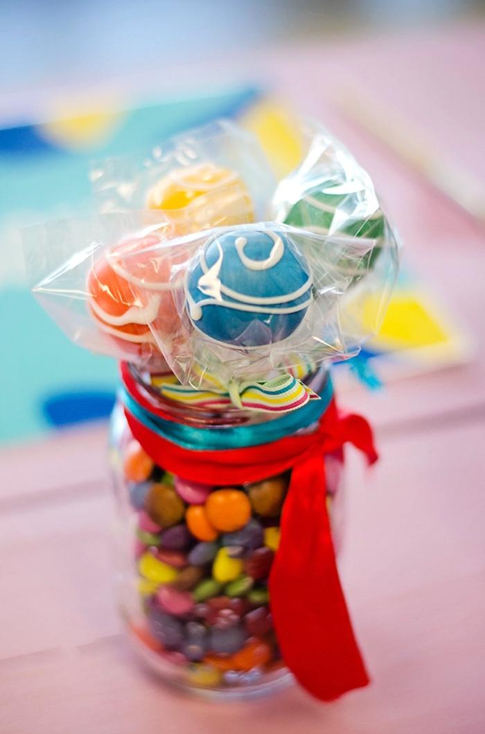 Cake pops from a Rainbow Art + Painting Party via Kara's Party Ideas | KarasPartyIdeas.com (17)