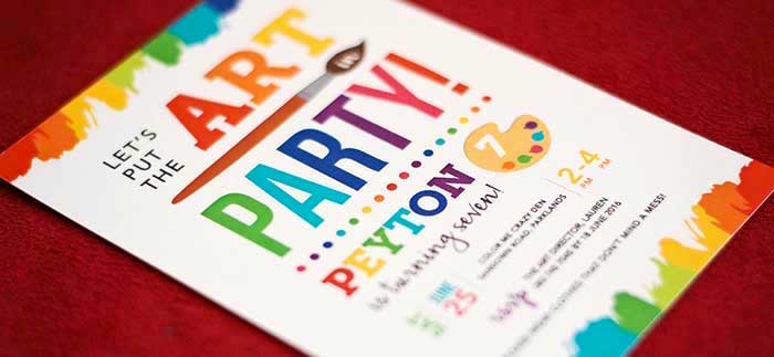Rainbow Art + Painting Party via Kara's Party Ideas | KarasPartyIdeas.com (3)
