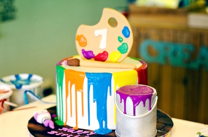 Cake Ideas For Painting Party