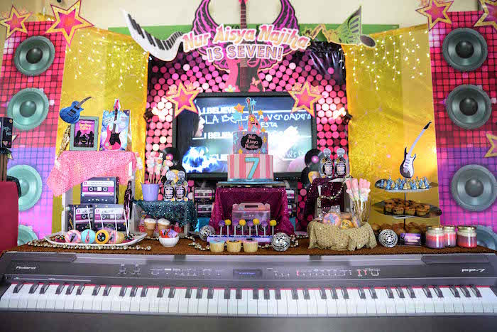 Rock Star dessert table from a Rock Star Birthday Party on Kara's Party Ideas | KarasPartyIdeas.com (8)