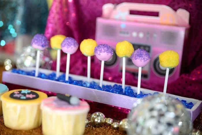 Cake pops from a Rock Star Birthday Party on Kara's Party Ideas | KarasPartyIdeas.com (5)