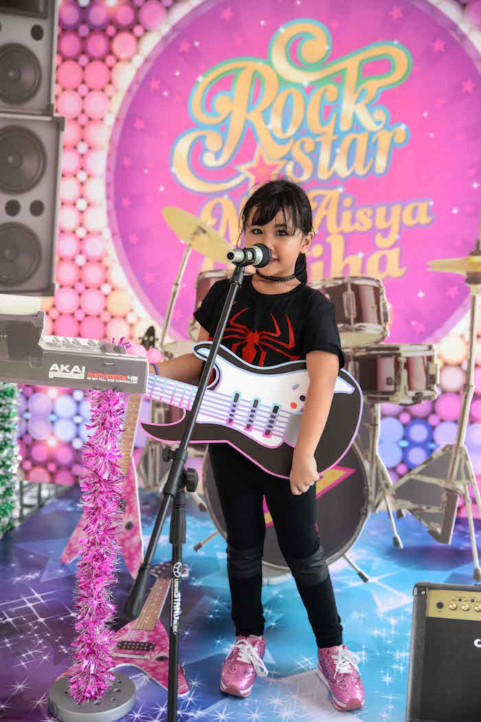 Kara S Party Ideas Purple Girly Rock Star Birthday Party