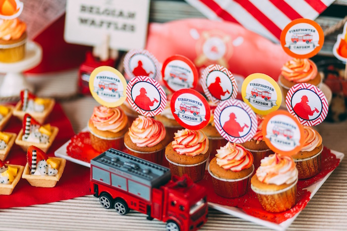 Karas Party Ideas Rustic Firefighter Birthday Party Karas Party