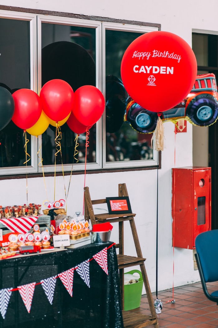Kara S Party Ideas Rustic Firefighter Birthday Party