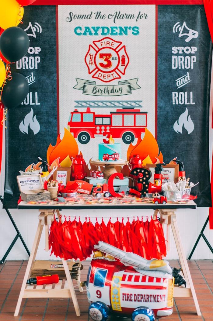 Rustic Firefighter Birthday Party via Kara's Party Ideas KarasPartyIdeas.com (13)