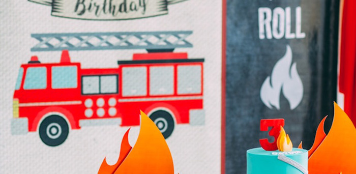 Rustic Firefighter Birthday Party via Kara's Party Ideas KarasPartyIdeas.com (2)