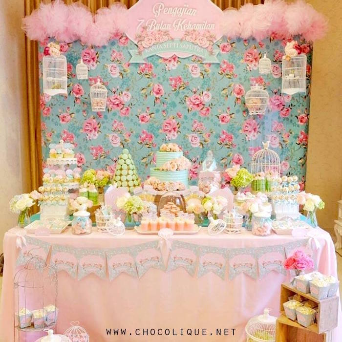 Shabby Chic Baby Shower via Kara's Party Ideas | KarasPartyIdeas.com (9)