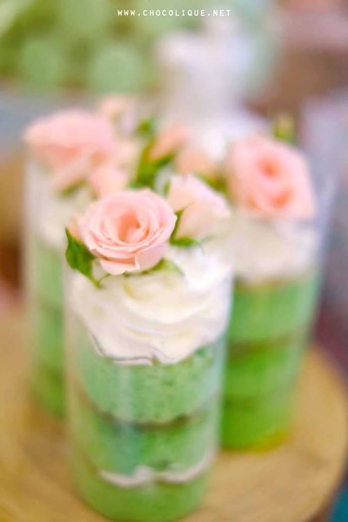 Mini cake shooters from a Shabby Chic Baby Shower via Kara's Party Ideas | KarasPartyIdeas.com (5)