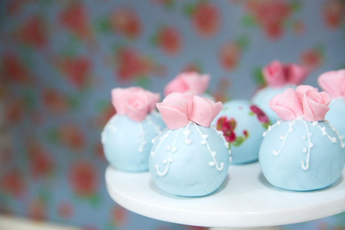 Cake pops from a Shabby Chic Little Bird Birthday Party on Kara's Party Ideas | KarasPartyIdeas.com (26)