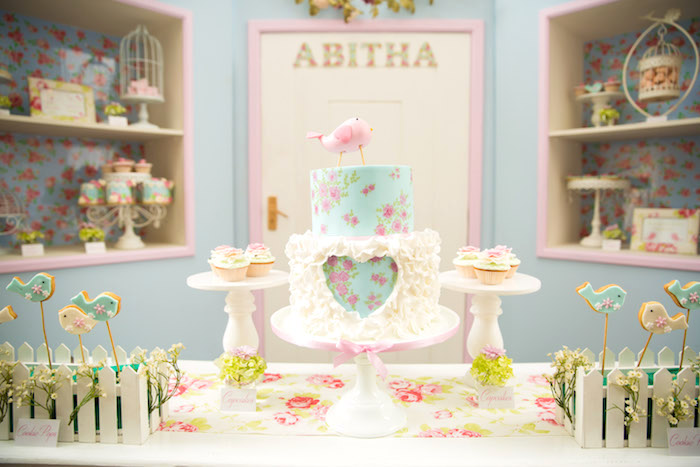 Shabby Chic Little Bird Birthday Party on Kara's Party Ideas | KarasPartyIdeas.com (37)